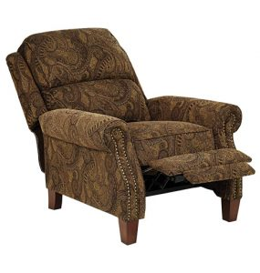 Beaumont Warm Brown Paisley Push-Thru Arm 3-Way Recliner Review