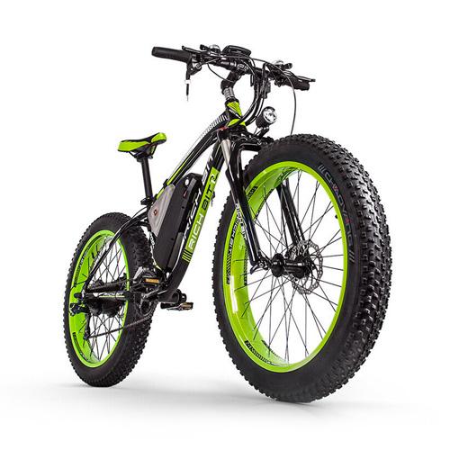RICHBIT Fat Tire Electric Bike Beach Snow Bicycle